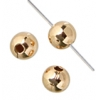 Gold Filled 14kt Bead with seam Round 3mm